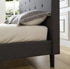 Classic Brands DeCoro Cambridge Upholstered Platform Bed | Headboard and Metal