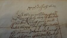 1682 KING CHARLES 11 HISTORICAL DOCUMENT  PRIVY COUNCIL FOOD RECEIPT £375.