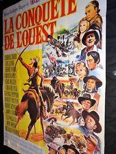 LA CONQUETE DE L' OUEST   ! john wayne affiche cinema western