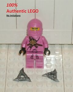 LEGO NEW Authentic Ninjago Avatar Pink Zane + Shurikens (1x) 71708 Minifigure