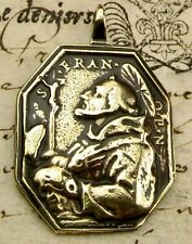 Antique Spanish Colonial Immaculate Conception St. Francis Stigmata Bronze Medal