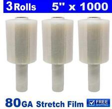 3 Rolls Shrink Wrap Stretch Film Clear 5
