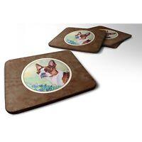 Caroline 7222FC Red And White Boston Terrier Foam Coasters (Set of 4), 3.5, M...
