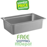 Full Size 6 Deep Silver Anti-Jam Stainless Steel Hotel Steam Table Pan