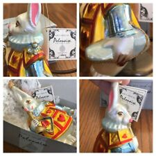 """White Rabbit� Alice in Wonderland Glass Christmas Ornament Polonaise Komozja"