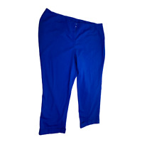 Lane Bryant Size 24 Women's Pants The Allie Pant Blue Dress Casual