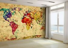 Vintage World Map Wallpaper Mural Photo 19290383 budget paper