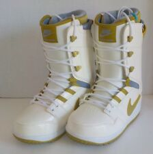 Nike VAPEN Snowboarding Boots 447124 171 WHITE GOLD Woman Size 7.5 FAST SHIP