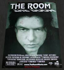 TOMMY WISEAU & GREG SESTERO SIGNED 27x36 THE ROOM MOVIE POSTER AUTOGRAPH JSA COA