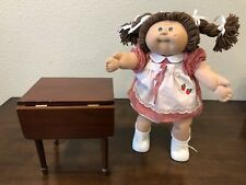 """Wooden Table For 16� Or 18"""" Dolls Fold Down American Girl Cabbage Patch Kids"""