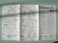 MAQUETTE MODEL : PLAN MONTAGE / ASSEMBLY PLAN : MONOGRAM FERRARI GTO 1/25 SCALE