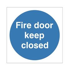 FIRE DOOR KEEP CLOSED 100mm X 100mm SELF ADHESIVE - PACK OF 5