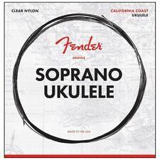 Fender Soprano Ukulele Strings, Clear Nylon, .024, .032, .034, .028 Gauges