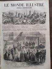 LE MONDE ILLUSTRE 1858 N 73 JEUNES FILLES DE RENNES ET SA MAJESTE L'IMPERATRICE