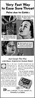 1937 Bayer Aspirin Woman gargling sore throat relief vintage photo print ad L28