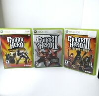 Guitar Hero Game Lot World Tour GH2 and Legends Of Rock all complete with manual