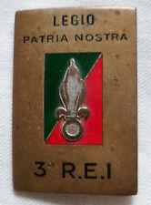Insigne Légion Etrangère ORIGINAL 3° REI Drago Paris émail French FFL ALGERIE