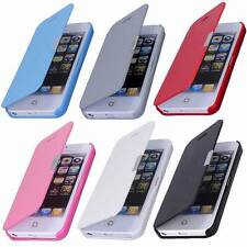 PU Leather New Magnetic  Flip Case Cover For iPhone 4/4S 5/5S 5C 6/6 plus