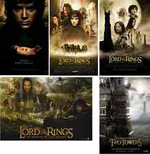 5 Different NEW LOTR Movie POSTERS LORD OF THE RINGS 13x20 Trilogy FOTR Lot