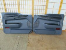 99-07 Ford F250 F350 Pickup or Excursion LEFT & RIGHT BLUE Power Door Panel Set