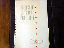 1944 Beechcraft Controllable Propeller series R200 service manual
