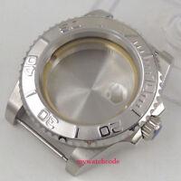 40mm sapphire glass silver ceramic bezel Watch Case fit 2824 2836 8215 MOVEMENT