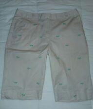 women's 12 petite Kim Rogers khaki bermuda dragonfly shorts