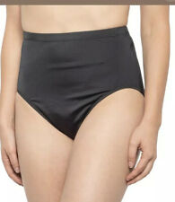 New MIRACLESUIT High Waist Full Coverage Tummy Control Swim Bottoms Black 16