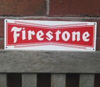 FIRESTONE ENAMEL SIGN logo garage vitreous porcelain tyres CLEARANCE VAC173