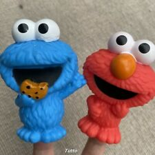 Fisher Price Little People Mattel Sesame Stree Elmo & Cookie Monster Set Kid Toy