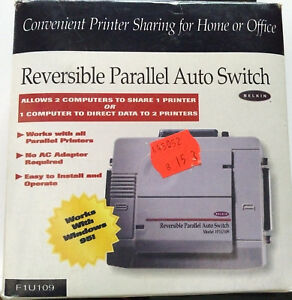 Belkin Reversible Parallel Auto Switch Model F1U109 (1996) Brand New Boxed