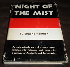 Night of the MIst Eugene Heimler HCDJ 1959 + Author Promo Photo Holocaust Memoir