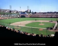 MLB 1969 Seattle Pilots Sick's Stadium Game Action Color 8 X 10 Photo Picture