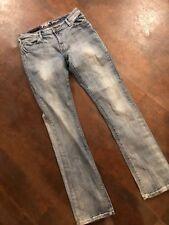 Women's ROCK 47 WRANGLER Low Rise Flap Pocket  Boot Cut Jeans Size 7/8 X 36