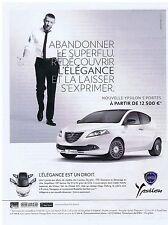 PUBLICITE ADVERTISING 114 2011 LANCIA Ypsilon avec Vincent Cassel