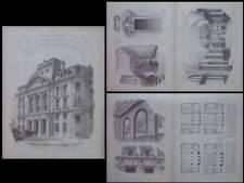 CAISSE D'EPARGNE, MARSEILLE, PLACE ESTRANGIN PASTRE - 1905 - GRAVURES, TOURNAIRE