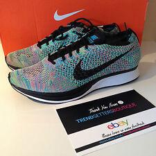 Nike Flyknit Racer Uk 5 Us 7 38 Multicolor Rainbow Color Multi 2.0 HTM 5.5 2015
