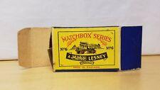 Matchbox Moko Lesney 6 QUARRY TRUCK ORIGINAL EMPTY MOKO SCRIPT BOX