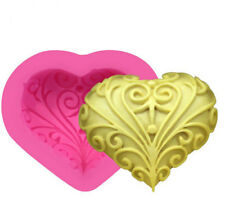 3D Heart Shaped Flower Soap Bar Mold Silicone Mould Diy Craft Candle Resin Mold