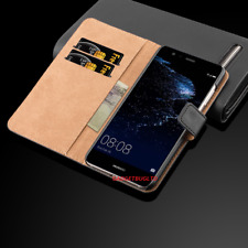 Real Genuine Leather Case For Huawei Wallet Flip Cover Shockproof