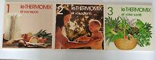 Collection complète le Thermomix 3 livres  cuisine repas santé enfants Vorkwerk