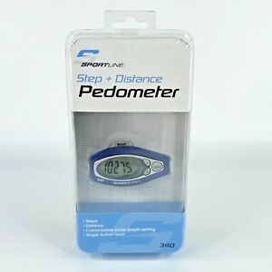 Sportline Step + Distance Pedometer 340 Customizable Stride Length Setting New