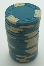 """Set of 20 ASM Casino Style """"A"""" Mold Clay Chips Aqua/Cream Inserts FREE SHIPPING"""