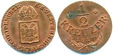 Österreich-RDR, Franz I., 1/2 Kreuzer 1816 A in Stempelfrisch