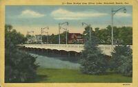 Rehoboth Beach Sussex County Delaware Silver Lake Bridge Postcard