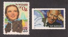 """WIZARD OF OZ - YIP HARBURG """"OVER THE RAINBOW"""" - 2 U.S. STAMPS - MINT CONDITION"""