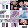 Holographic Nail Foils Holo Nail Art Transfer Stickers 4*120cm Starry Decal Tips