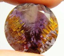 Super seven 7,Melody stone,13.14ct 20x4mm Brazil, slice, cacoxenite, Amethyst