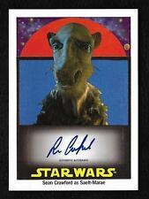 2017 Topps Star Wars 1978 Sugar Free Autograph Sean Crawford Saelt-Marae #98/199