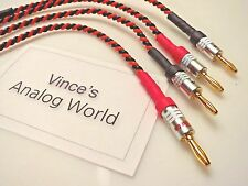 "Belden 9497 10"" Biwire Speaker Jumper Cables, shindo, jbl, Kondo,"